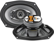 """New Pair Ssl Gs569 6"""" X 9"""" 5-Way 600 Watts, Poly Injection Cone Speakers Gs569"""