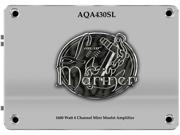 New Lanzar Aqa430sl 1800W 4 Ch Marine Mini Amplifier Amp Silver Finish 2 Channel