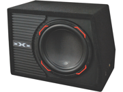 "NEW XXX XAMP127 600W SINGLE 12"" SUBWOOFER ENCLOSURE WITH BUILT IN AMPLIFIER AMP"