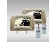"Discount Electronics On Sale New Tview T726pl-Tan 7"" Tan Pair Lcd Car Headrest Tv Monitor W/ Ir Transmitter"