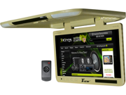 """New Tview T257ir 25"""" Tft Flip Down Monitor With Ir//Light/Tan T257irtan T256ir"""