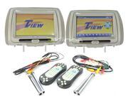 "New Pair Tview T99dvts - Gray 9"" Touchscreen Car Headrest Dvd Player Monitor"
