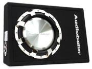 "New Audiobahn Abs10h 660 Watt 10"" Subwoofer Shallow Mount Enclosure Car Audio"