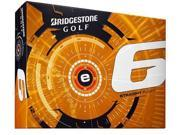 Bridgestone e6 Golf Balls (Pack of 12) - White - New for 2015