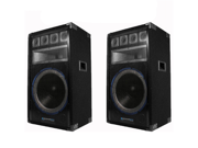 Technical Pro VRTX15 Passive DJ Speakers 2400 Watts New 2VRTX15