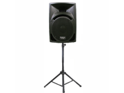 "Podium Pro Studio ABS Speaker 10"" Two Way Monitor and Stand DJ Set for PA Home or Karaoke PP10101SET1"