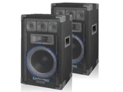 2 Technical Pro VRTX10 Passive 5 Way DJ Speakers 1600 Watts New