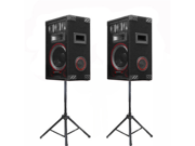 VMPR8 Speakers and Stands Technical Pro PA DJ Audio Set New VMPR8SET1