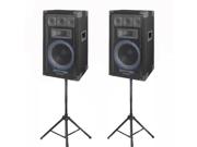 VRTX10 Speakers and Stands Technical Pro PA DJ Audio Set New VRTX10SET1