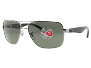 Ray Ban RB 3483 004/58 Gunmetal/Black Polarized Aviator Sunglasses 60mm