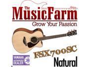 Yamaha FSX700SC Small Body Solid Top Cutaway Acoustic Electric Guitar - Natural