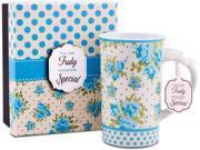 Someone Special 12 oz. Blue Floral Mug