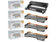 LD Compatible Brother TN450 Toner and DR420 Drum Combo: 3 Black TN450 Cartridge and 1 DR420 Drum for HL-2240, IntelliFax-2840, HL-2130, MFC-7460DN, HL-2242D, IntelliFax-2940, HL-2270DW Printers