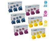 LD Compatible Replacements for Xerox Phaser 8560 Set of 18 Solid Ink ColorStix: 6 108R00723 Cyan, 6 108R00724 Magenta, 6 108R00725 Yellow for the Phaser 8560, 8