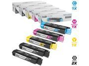 LD © Compatible Replacements for Okidata 421274 Set of 5 High Yield Laser Toner Cartridges Includes: 2 42127404 Black, 1 42127403 Cyan, 1 42127402 Magenta, and