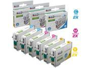 LD Remanufactured Epson T127 Set of 6 Extra HY Cartridges: 2 T127220, 2 T127320, 2 T127420 for Stylus NX530, NX625, WorkForce 3520, 3530, 3540, 7010, 7510, 7520