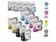 LD © Brother Compatible LC107 / LC105 Set of 8 Ink Cartridges: 2 each of Black / Cyan / Magenta / Yellow for use in MFC-J4310DW, MFC-J4410DW, MFC-J4510DW, MFC-4610DW & MFC-J4710DW Printers