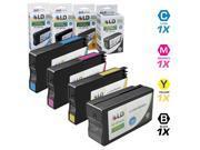 LD © Remanufactured Replacement for HP 950XL / 950 & 951XL / 951 Set of 4 High Yield Ink Cartridges Includes: 1 Black XL CN045AN, 1 Cyan XL CN046AN, 1 Magenta XL CN047AN, and 1 Yellow XL CN048AN