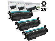 LD © Remanufactured Replacement Laser Toner Cartridges for Hewlett Packard CE264X (HP 646X) High-Yield Black (3 Pack)