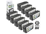 LD © Remanufactured Replacement for Hewlett Packard HP 950 Ink Cartridges Set of 9 Black CN049AN for use in OfficeJet Pro 251dw, 276w MFP, 8100, 8600, 8600 Plus