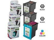 LD © Remanufactured Replacement Ink Cartridges for Hewlett Packard (HP) C9362WN (HP 92) Black and C9361WN (HP 93) Color (2 Black and 1 Color)