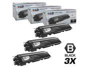 LD Brother Compatible Set of 3 Black TN210BK Laser Toner Cartridges for DCP-9010CN, HL-3040CN, HL-3045CN, HL-3070CW, HL-3075CW, MFC-9010CN, MFC-9120CN, MFC-9125CN, MFC-9320CN, MFC-9320CW, MFC-9325CW
