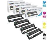 LD © Compatible Brother DR221 Set of 4 Cartridges: 1 DR221 Black, 1 DR221 Cyan, 1 DR221 Magenta, and 1 DR221 Yellow