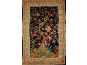 "Tree of Life Tapestry Cotton Bedspread 104"""" x 86"""" Full Black"" 9SIA16W09X2312"