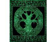 "Celtic Tree Of Life Tapestry Cotton Bedspread  90"" x 84"" Full Green"