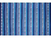 "Om Symbol Heavy Cotton Ribbed Spread 90"" x 60"" Twin Blue"