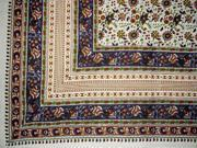 "Floral Print Indian Tapestry Cotton Spread  106"" x 72"" Twin Purple"