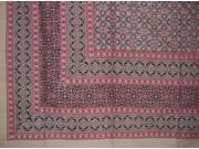 "Moroccan Foulard Tapestry Cotton Bedspread 108"" x 88"" Full-Queen Pink"