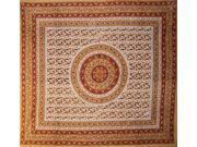 Jaipur Paisley Cotton Spread or Huge Tablecloth Many Uses 90 x 87