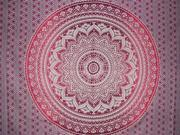 "Mandala Tapestry Cotton Spread 96"" x 62"" Purple"