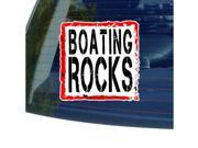 Boating Rocks Sticker 5 width X 5 height