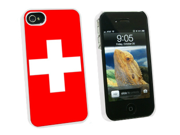 Switzerland Flag - Snap On Hard Protective Case for Apple iPhone 4 4S - White
