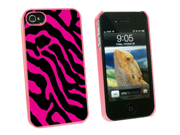 Zebra Print Hot Pink - Snap On Hard Protective Case for Apple iPhone 4 4S - Pink 9SIA16X0KV0680