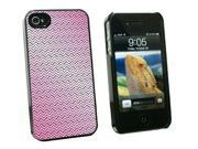 You Zig I Zag Pink - Snap On Hard Protective Case for Apple iPhone 4 4S - Black
