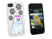 Maltese of Distinction - Snap On Hard Protective Case for Apple iPhone 4 4S - White