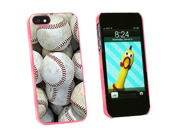 Baseballs - Baseball Balls - Snap On Hard Protective Case for Apple iPhone 5 - Pink
