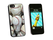 Baseballs - Baseball Balls - Snap On Hard Protective Case for Apple iPhone 5 - Black