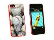 Baseballs - Baseball Balls - Snap On Hard Protective Case for Apple iPhone 5 - Red