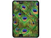 Peacock Tail Feathers Snap On Hard Protective Case for Amazon Kindle Fire HD 7in Tablet