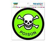"Poison Skull And Crossbones - Circle MAG-NEATO'Sâ""¢ Automotive Car Refrigerator Locker Vinyl Magnet"