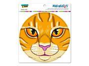 "Orange Tabby Cat Face - Pet Kitty Circle MAG-NEATO'Sâ""¢ Automotive Car Refrigerator Locker Vinyl Magnet"