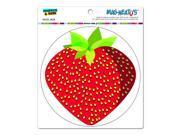 "Strawberry - Circle MAG-NEATO'Sâ""¢ Automotive Car Refrigerator Locker Vinyl Magnet"