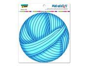 "Blue Yarn Ball - Crochet Circle MAG-NEATO'Sâ""¢ Automotive Car Refrigerator Locker Vinyl Magnet"