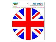 "Britain British UK Flag - Circle MAG-NEATO'Sâ""¢ Automotive Car Refrigerator Locker Vinyl Magnet"