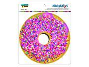 Pink Donut Sprinkles Circle MAG NEATO S™ Automotive Car Refrigerator Locker Vinyl Magnet