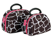 Rockland Luggage 2 Piece Cosmetic Case Set